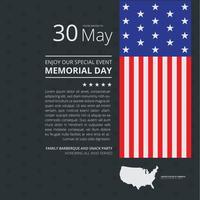 Memorial Day Decoratie Illustratie Handout