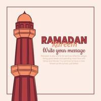 hand getrokken illustratie van ramadan kareem iftar feestviering. islamitische heilige maand 1442 h.