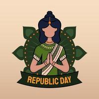 hand getrokken illustratie van de dag van de Indiase republiek vector