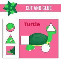 werkblad knippen en lijmen. spel voor kinderen. onderwijs ontwikkelend werkblad vector