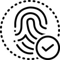 lijnpictogram voor vingerafdruk afgestemd vector
