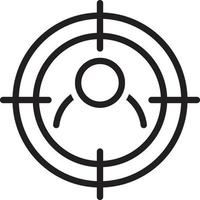 lijnpictogram voor doel
