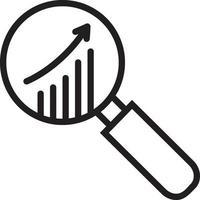 lijn pictogram voor markt vector