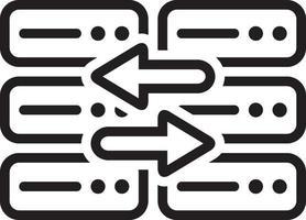 lijnpictogram voor vervangen vector