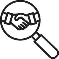 lijn pictogram voor het bedrijfsleven vector