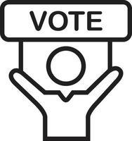 lijn pictogram om te stemmen vector