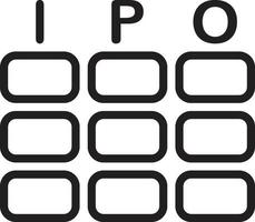 lijnpictogram voor ipo vector
