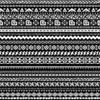 verzameling van verschillende geometrische patronen. naadloze zwart-wit patroon. vector