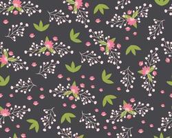 naadloze patroon met schattige bloemen. hand getrokken zomerflora textiel