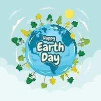 gelukkig aardedag ontwerp