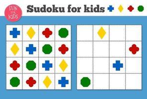 Sudoku. wiskundig mozaïek voor kinderen en volwassenen. magisch vierkant. logica puzzelspel.