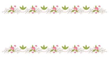 floral grenselementen. botanische bloei prachtige lente frame