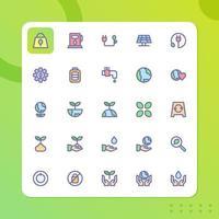 milieu icon pack geïsoleerd op een witte achtergrond. voor uw websiteontwerp, logo, app, ui. vectorafbeeldingen illustratie en bewerkbare beroerte. eps 10. vector