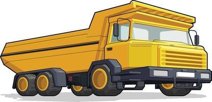 vrachtwagen bouw dump zware machine mijnbouw industrie cartoon vector