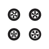 auto wiel pictogram logo vector
