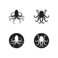 inktvis logo en symbool vector