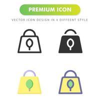 gerecycleerde tas pictogram geïsoleerd op een witte achtergrond. voor uw websiteontwerp, logo, app, ui. vectorafbeeldingen illustratie en bewerkbare beroerte. eps 10. vector