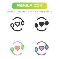 blad liefde pictogram geïsoleerd op een witte achtergrond. voor uw websiteontwerp, logo, app, ui. vectorafbeeldingen illustratie en bewerkbare beroerte. eps 10. vector