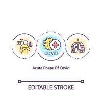 acute fase van covid concept icoon