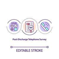 post ontslag telefonisch onderzoek concept pictogram vector