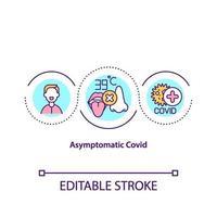 asymptomatische covid concept icoon vector