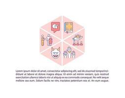religie voors en tegens concept pictogram met tekst vector