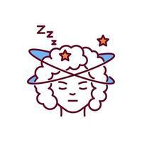 slapeloosheid RGB-kleur pictogram vector