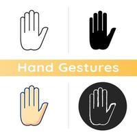 stop gebaar pictogram