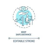 veilige afstand concept pictogram houden vector
