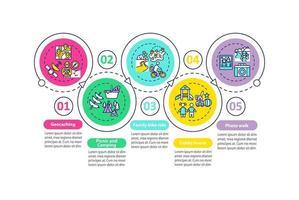 outdoor familie-activiteiten vector infographic sjabloon