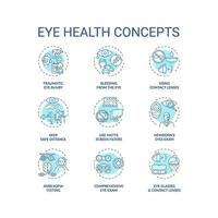 oog gezondheid concept pictogrammen instellen