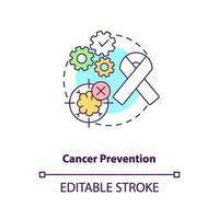kanker preventie concept pictogram vector