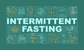 intermitterend vasten dieet woord concepten banner vector
