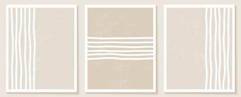 set stijlvolle sjablonen met organische abstracte vormen en lijn in nude kleuren. pastel achtergrond in minimalistische stijl. eigentijdse vectorillustratie vector