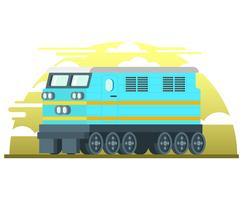 Locomotief illustratie vector