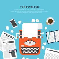 schrijfmachine vectorillustratie vector