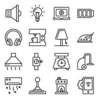 pakket elektronische lineaire pictogrammen