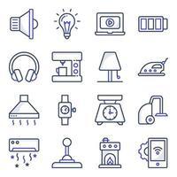 pack van elektronische plat pictogrammen