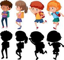 set van verschillende kinderen stripfiguur