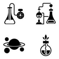 pak chemie-onderwijs solide pictogrammen