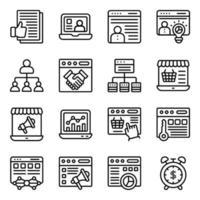 pakket zakelijke lineaire pictogrammen