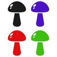 set van champignons op witte achtergrond vector