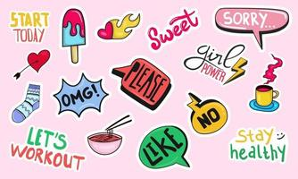 handgetekende dagelijkse stickersplanner