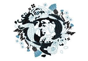 Japanse tatoeage vector