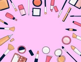 kleurrijke hand getrokken make-up achtergrond