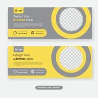 minimale sociale media omslag banner voor meubelsjabloon