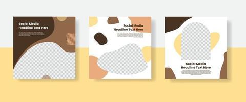beste voedsel sociale media post sjabloon banner vector