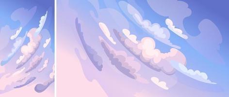 hemel met wolken. vector