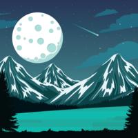 Maan Spacescape Illustratie vector