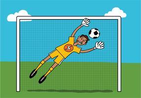 voetbal doelman kerel vector